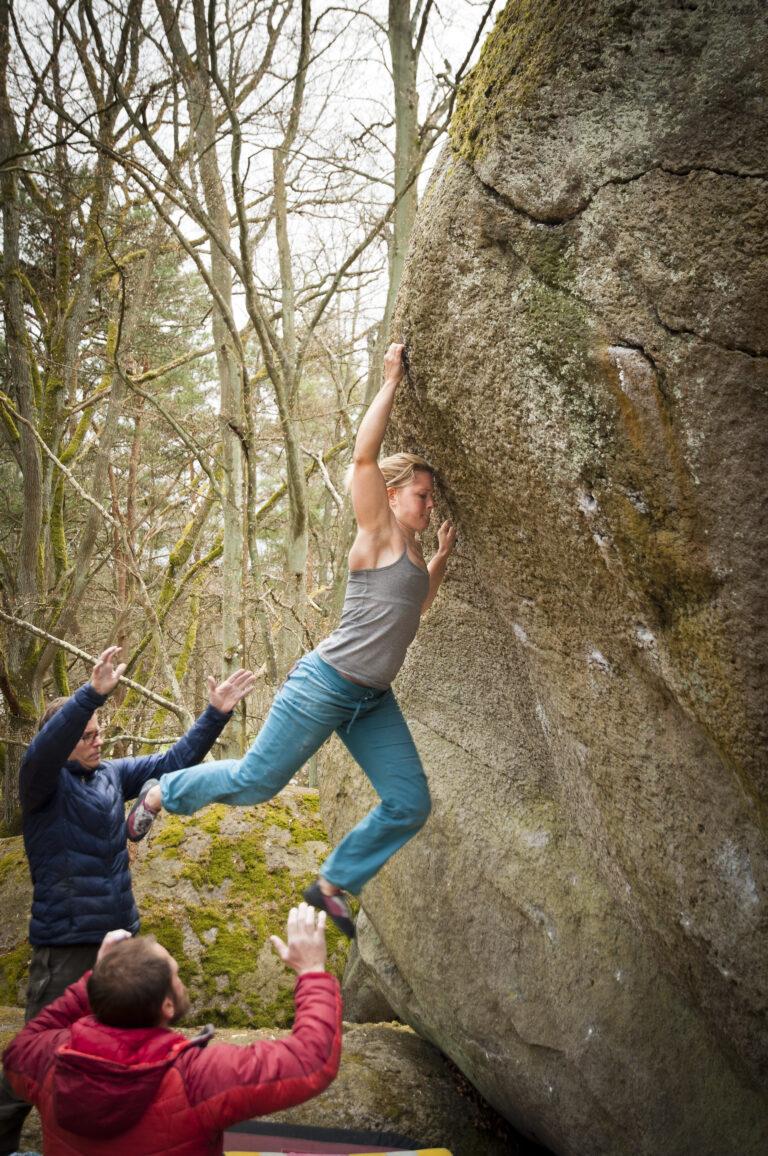 Stearin – Photo: Anders Björkén, Climber: Cajsa Björkén
