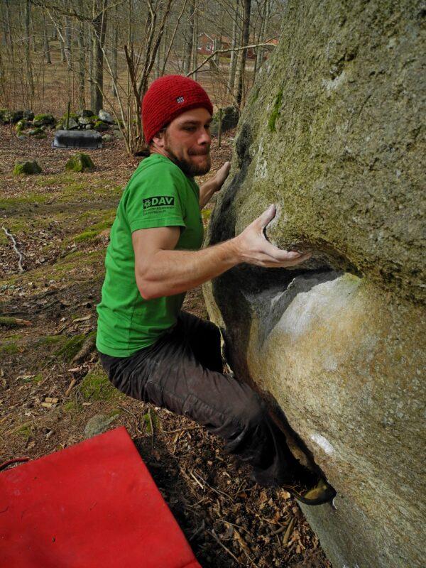 Photo: Bernhard Viehweger, Climber: Tobias Biermann