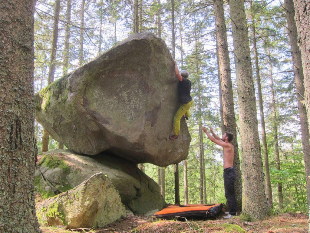 Photo: Carl Nilsask, Climber: Rodolphe Marie