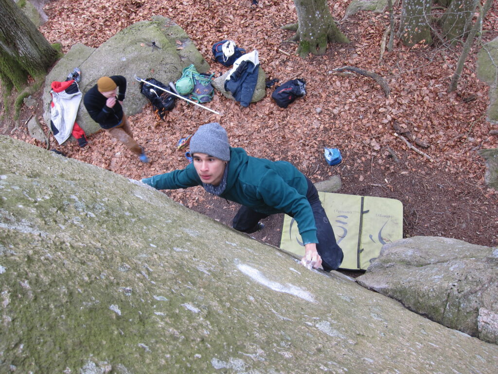 Photo:  Carl Nilsask, Climber: Marcello Mårtensson