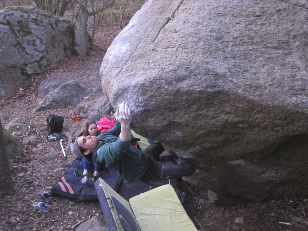 Photo:  Carl Nilsask, Climber: Marcello Mårtensson