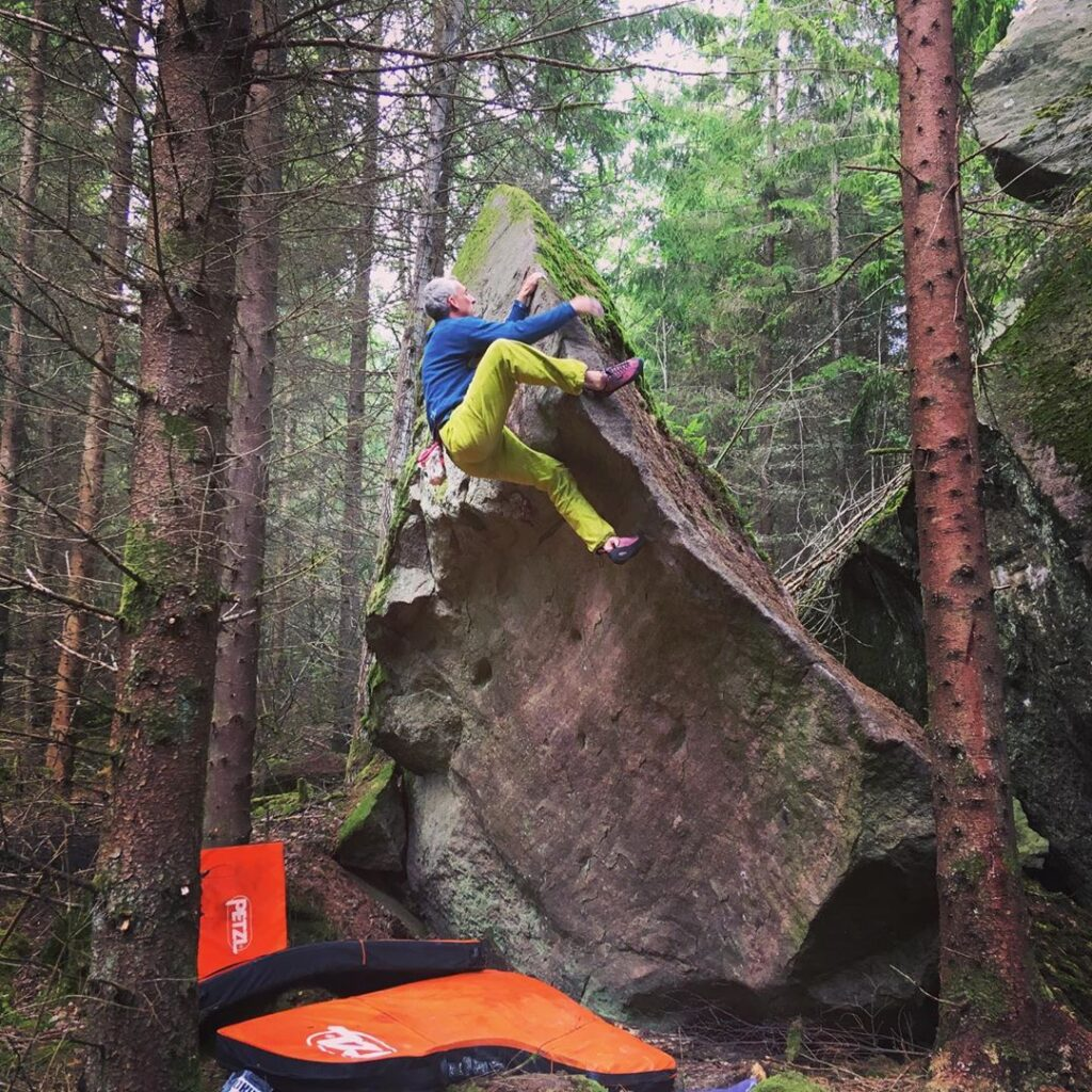 Photo: Bjørn Arnel Iisager, Climber: Rodolphe Marie